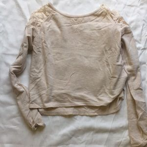 Cream Long Sleeve Blouse